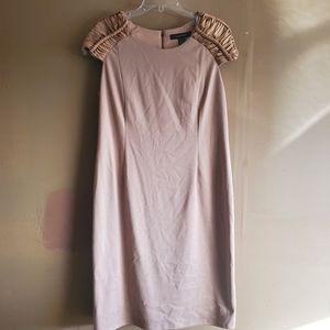 Ashley Stewart Peach Party Midi Dress Sz 14
